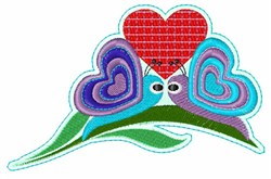 Heart Snails embroidery design