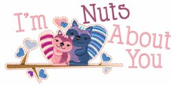 Nuts About You embroidery design