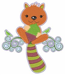 Squirrel Acorn embroidery design