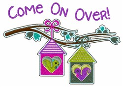 Come On Over! embroidery design