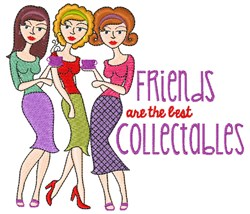 Friends Collectables embroidery design