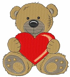 Heart Bear embroidery design
