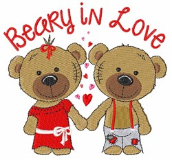 Beary in Love embroidery design