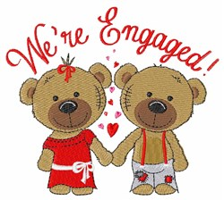 Were Engaged! embroidery design