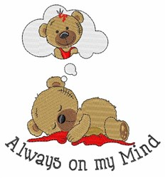 Always On My Mind embroidery design