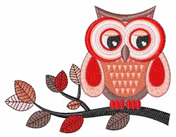 Owl Branch embroidery design