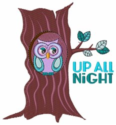 Up All Night embroidery design