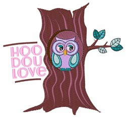 Hoo Do U Love embroidery design