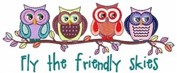 Friendly Skies embroidery design