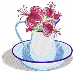 Pitcher Flowers embroidery design