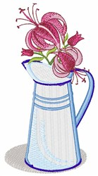 Flower Pitcher embroidery design