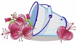 Flower Pail embroidery design