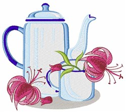 Flower Cup embroidery design