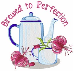 Brewed to Perfection embroidery design