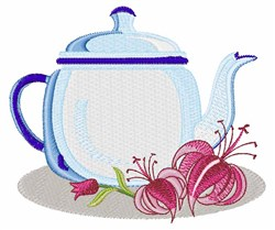 Flower Kettle embroidery design