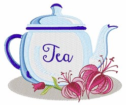 Tea Kettle embroidery design