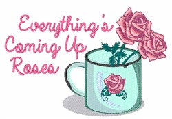 Coming Up Roses embroidery design