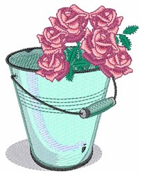 Rose Bucket embroidery design