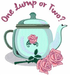 One Lump embroidery design