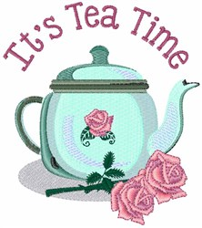 Tea Time Roses embroidery design
