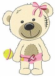 Baby Girl Bear embroidery design