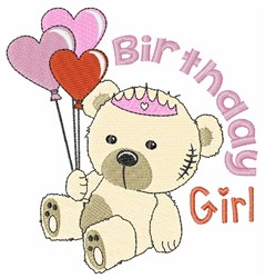 Brthday Girl embroidery design