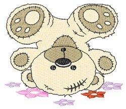 Upside Down Bear embroidery design