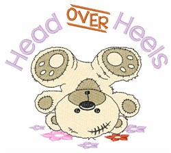 Head Over Heels embroidery design