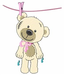 Line Dry Teddy embroidery design