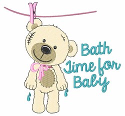 Bath Time for Baby embroidery design