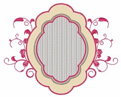 Swirl Frame embroidery design