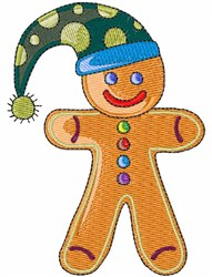 Gingerbread Man Cookie embroidery design