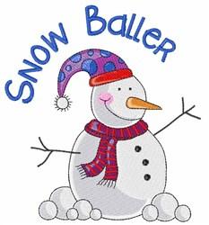 Snow Baller embroidery design