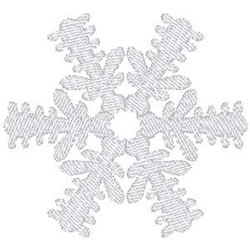 Spikey Snowflake embroidery design