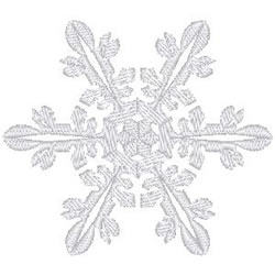 Snowflake Motif embroidery design