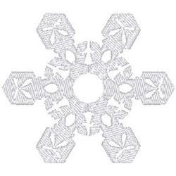 Fancy Snowflake embroidery design