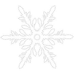 Pretty Snowflake Outline embroidery design