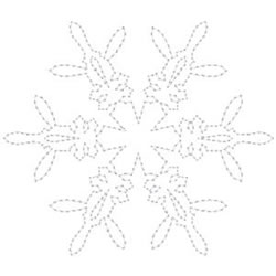 Snowflake Design Outline embroidery design