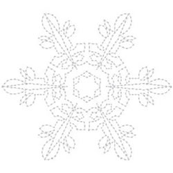 Elegant Snowflake Outline embroidery design