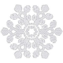 Snowflake Crystal embroidery design