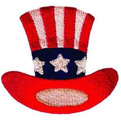 Uncle Sams Hat embroidery design