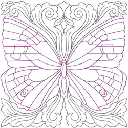 Butterfly Quilt Design embroidery design