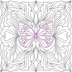 Pretty Butterfly Block embroidery design