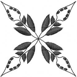 Blackwork Motif embroidery design