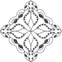 Diamond Blackwork embroidery design