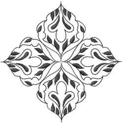 Blackwork Diamond Design embroidery design