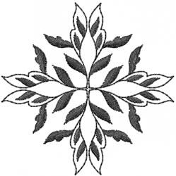 Elegant Blackwork embroidery design