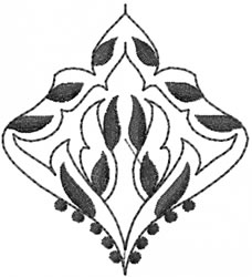 Fancy Blackwork embroidery design
