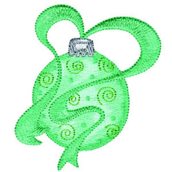 Ornament With Ribbon embroidery design