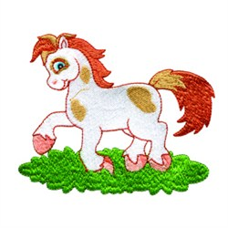 Playful Pony embroidery design